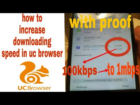 { 100% working } how to increase downloading speed in uc browser