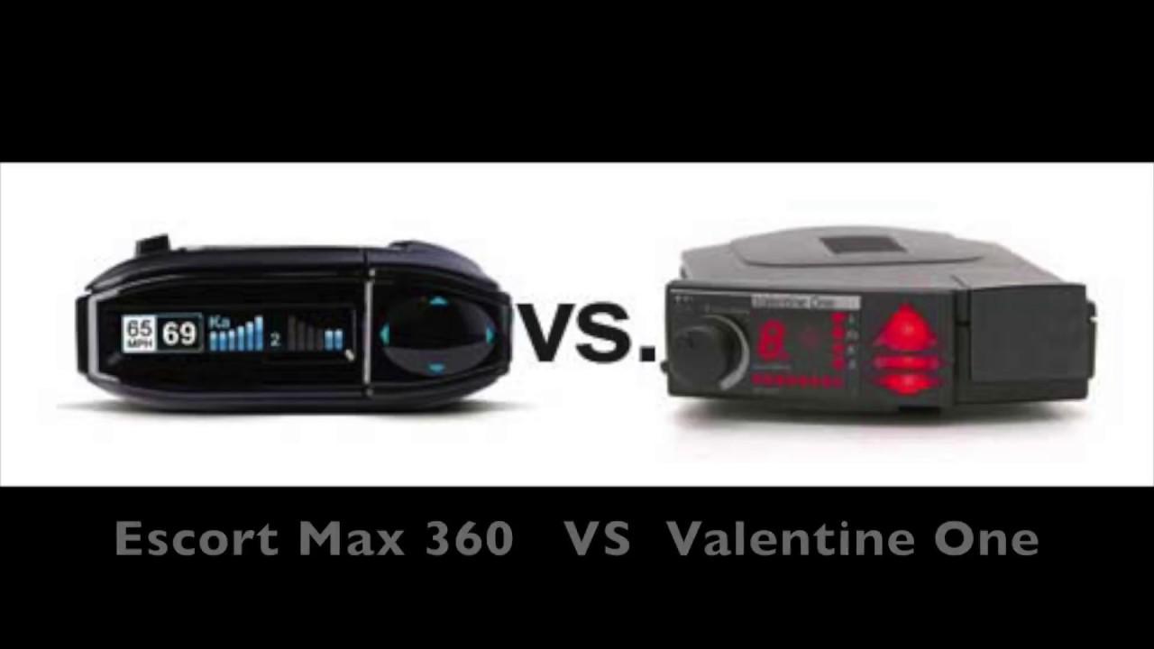 escort redline radar detector vs valentine one