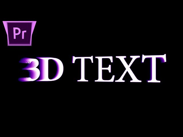 How to create 3D Animated Rotating Text & Objects in Adobe Premiere Pro (CC 2018 Tutorial)