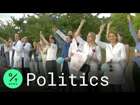 Belarus Health Care Workers Join Anti-Lukashenko Protests