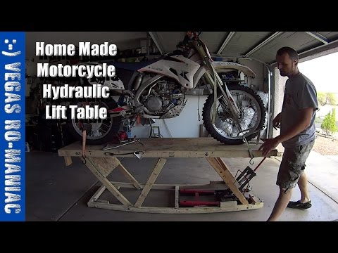 Under $20 DIY Home Made Motorcycle Hydraulic Lift Table - Crazy Engineering