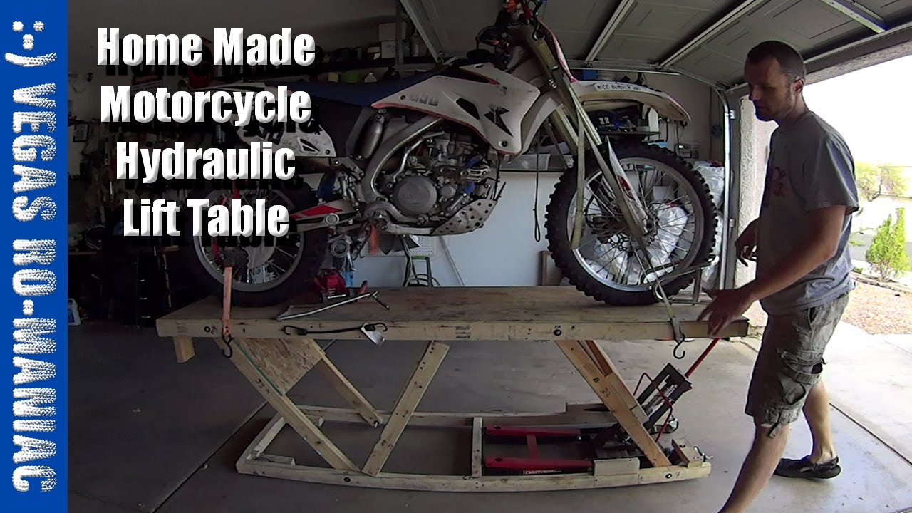 Under 20 Diy Home Made Motorcycle Hydraulic Lift Table Crazy Engineering