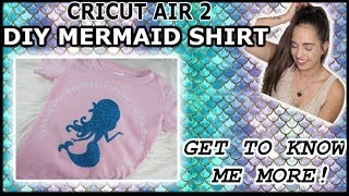 DIY KID MERMAID SHIRT WITH THE CRICUT | OPENING UP MORE TO MY SUBSCRIBERS