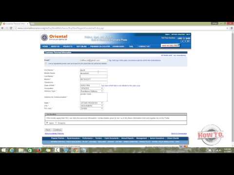 How to apply for insurance online | Oriental Insurance (India)