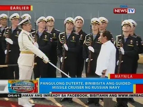 BP: Pangulong Duterte, binibisita ang guided-missile cruiser ng Russian Navy