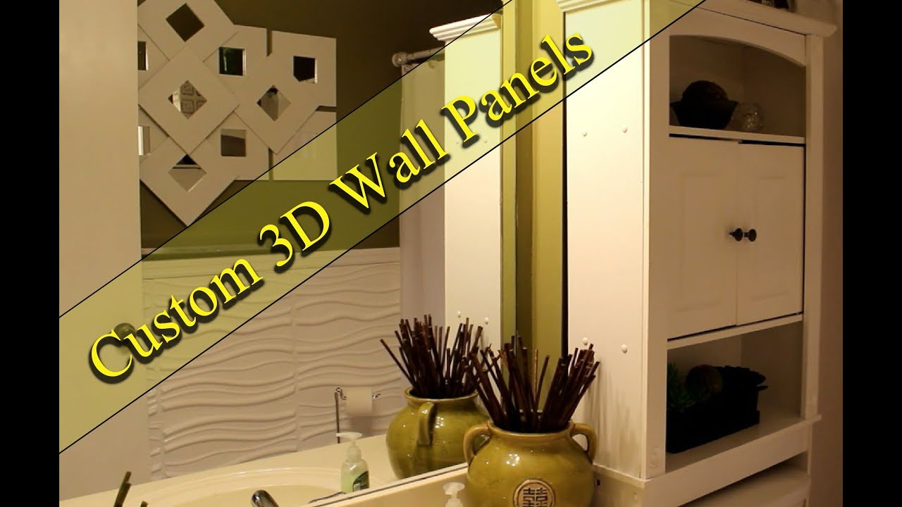 NEW! Use 3D Art Panels To Create A Luxurious Wall - YouTube