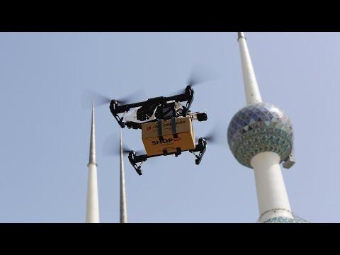 Drone Delivery in Kuwait دعاية توصيل بالطيارات في الكويت