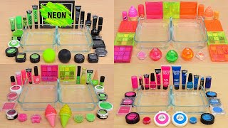 Neon vs Compilation - Mixing Makeup Eyeshadow Into Slime ASMR #1