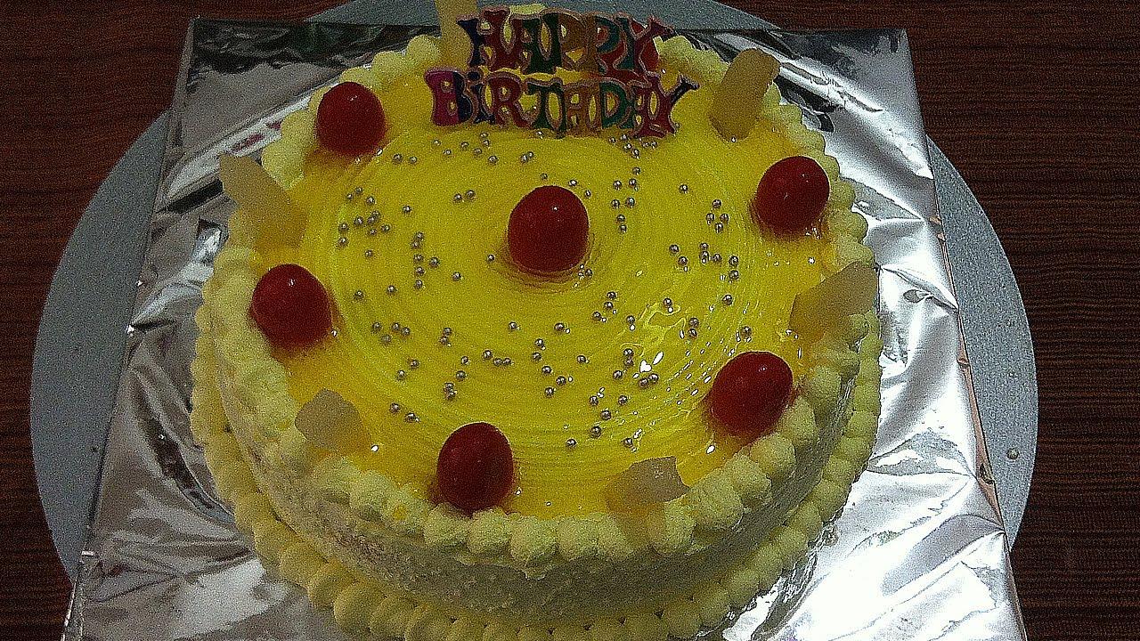 Pineapple Cake For Birthday Youtube