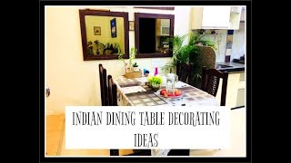 INDIAN DINING TABLE DECORATING IDEAS || #HOWTODECORATEDININGTABLE || DECORATE WITH ME