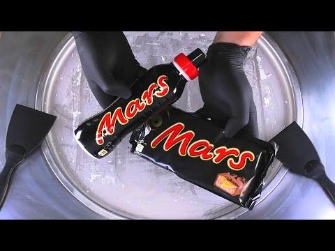 Ice Cream Rolls | rolled fried Ice Cream with MARS Chocolate Bar and Milk Shake Caramel | Food ASMR