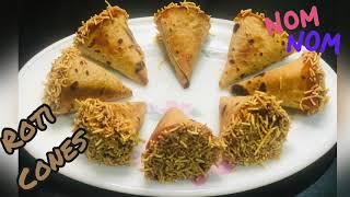 Quick, Easy & Crİspy Roti Cones | Use of Left Over Chapatis | Tea Time Snack | Masala Roti Cones