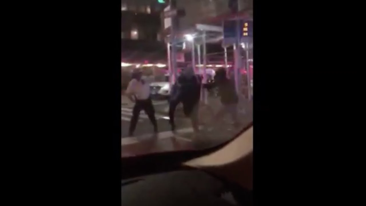 NY Police officers filmed hitting cyclist after a citywide curfew took effect