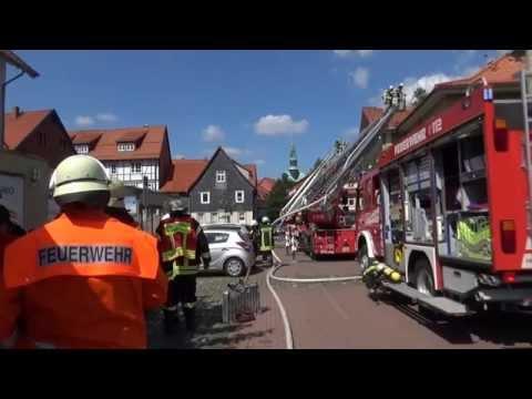 Brand des Alten Brauhauses - Osterode am Harz - 08.05.2015