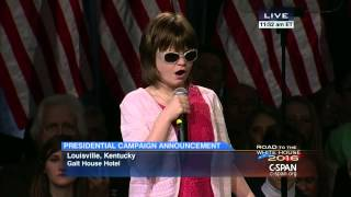 Marlana VanHoose sings the National Anthem at Rand Paul Presidential Announcement Event. Watch the complete event here: http://cs.pn/1CQBsg7.