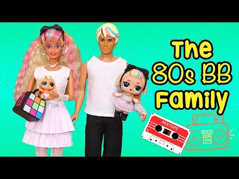 Barbie Doll LOL Family ! The 80s BB Family on Laundry Day | Toys and Dolls Fun Pretend Play for Kids