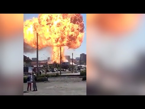 Breaking News : Huge Gas Explosion Rock Russian Novosibirsk City 15-06-2021( Gas Station Exploded)
