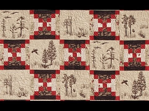 Log Cabin Court House Steps quilt video by Shar Jorgenson