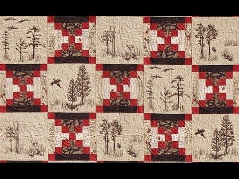 Log Cabin Court House Steps quilt video by Shar Jorgenson - YouTube : youtube patchwork quilt videos - Adamdwight.com