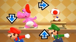 Mario Party 9 MiniGames - Mario Vs Luigi Vs Birdo Vs Toad (Master Difficulty)