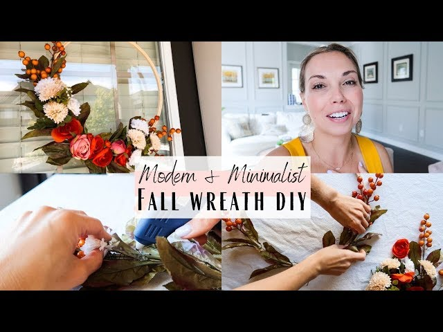 Minimalist Modern Fall Wreath DIY