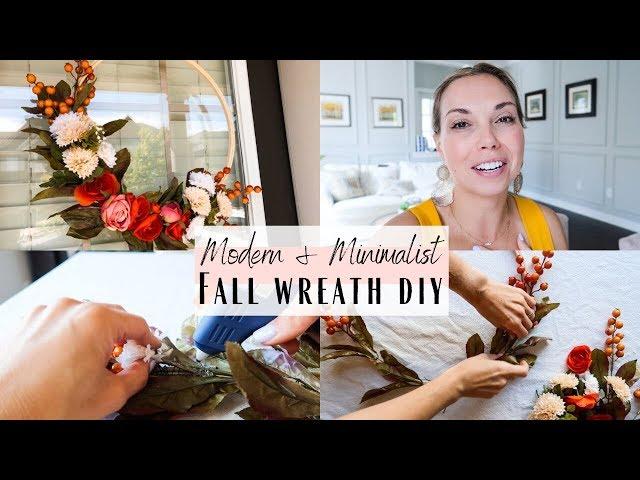 Minimalist Modern Fall Wreath DIY
