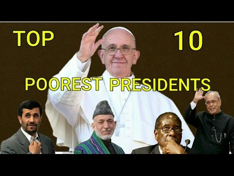 NOT RICHEST!! Top ten poorest presidents in the world