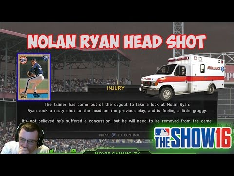 NOLAN RYAN HEAD SHOT! | MLB The Show 16 Diamond Dynasty