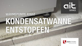 Fehlerbehebung: Wärmepumpe rinnt - Kondensatwanne entstopfen