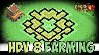 Village efficace HDV 8 / Protection de Ressources! (FARMING) TH8