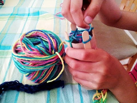 How To Knit Knitting Loom Tp Tube Knitting Youtube