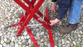Collapsible Log & Pallet Sawhorse (claps)