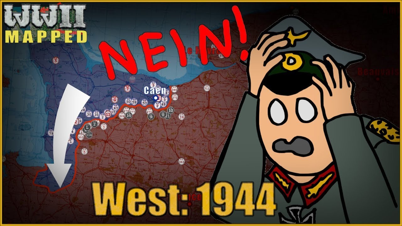 WW2 Animated: Western Front, 1944-1945. Part 1