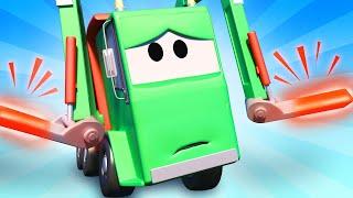 Tom der Abschleppwagen -  Gary das Müllauto bricht sich die Arme - Autopolis 🚓 Cartoons für Kinder 🚒