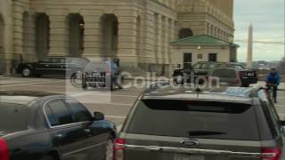 DC:OBAMA MOTORCADE ARRIVES AT THE CAPITOL
