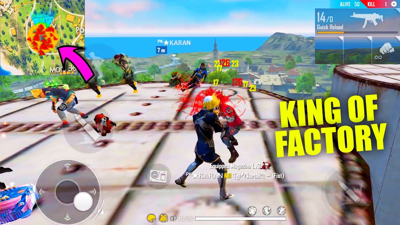 Garena Free Fire King Of Factory Fist Fight Over Power Headshot Master Gameplay Pk Gamers Youtube