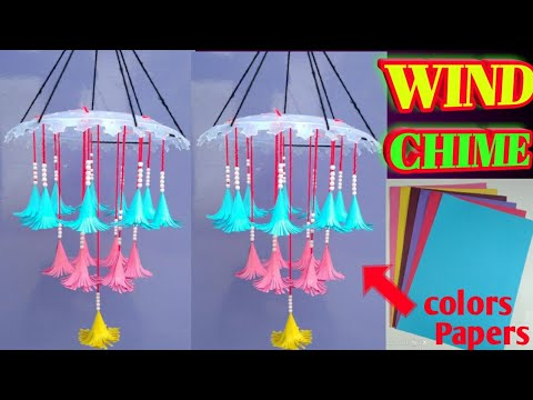 Wall hanging craft ideas | DIY wind chime | wind chime craft ideas | by kanishtha  art&style