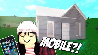 Building a Home on MOBILE for the FIRST Time?! this hurt my soul (ROBLOX | Bloxburg)