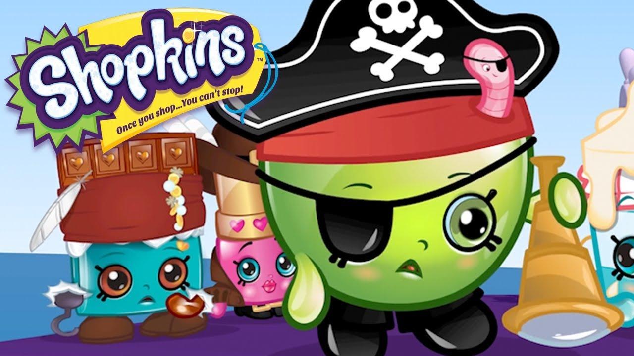 Treasure Toys Cartoon : Shopkins pirate treasure cartoons for kids toys