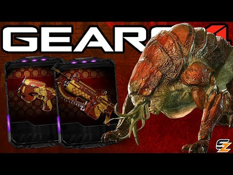 Gears of War 4 - Year of the Dog New Unlockable Weapon Skins, Pouncer Madness, Midnight Omen & More!