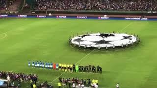 VIDEO NM - Napoli-Nizza: l'urlo Champions dopo l'ingresso in campo
