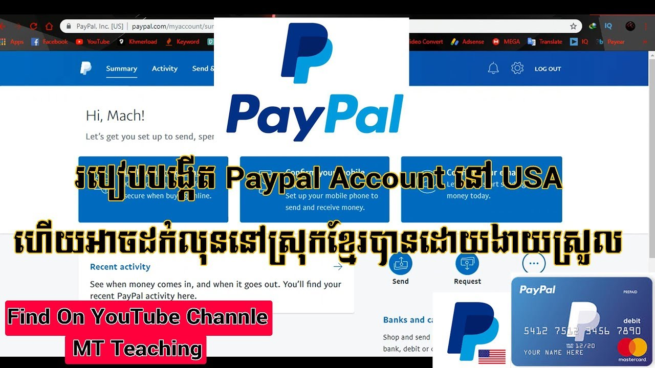 #how to create #paypal #account How to create paypal for free account at  USA?