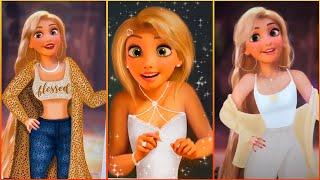 Tangled Disney Princesses Glowup Tiktok Cartoon Characters V4 Tiktok Ironic Art Memes