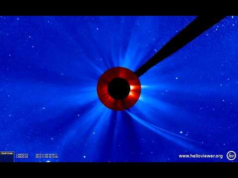 C/2012 S1(ISON) @ SOHO/LASCO C2/C3 (2013-11-28 06:36:05 - 2013-11-29 06:02:57 UTC)