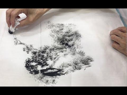 莊嘉禾老師 紙巾焦墨山水 Chinese Landscape Painting using Tissue Paper