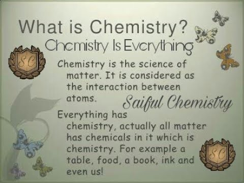 Chemistry Definition – Saiful Chemistry