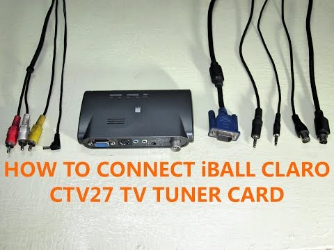 How to Connect iball Claro CTV27 TV Tuner Card (Installation/Setup)