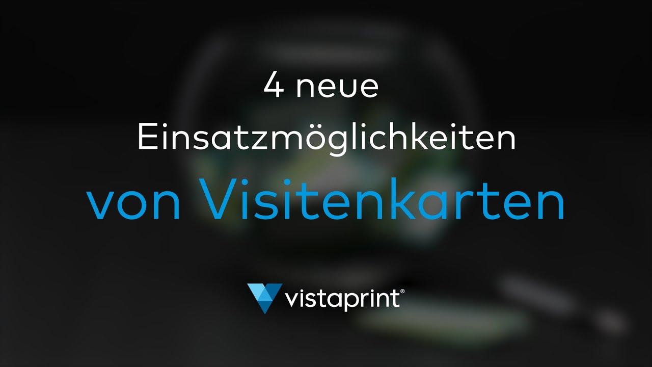 4 Neue Wege Visitenkarten Zu Verwenden Vistaprint