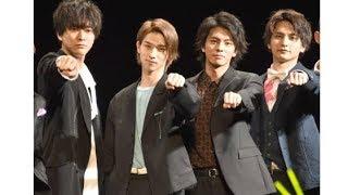 俳優の横浜流星、浅香航大が15日、都内で行われた映画『チア男子!!』(5...