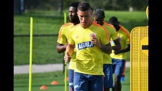 La selección Colombia completó su primer entrenamiento con el grupo completo